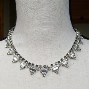 Vintage Necklace Rhinestone Statement Choker
